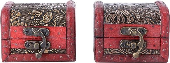 Cabilock Pudełko do przechowywania, 2 sztuki, ekskluzywne, europejskie kreatywne drewniane pudełko do przechowywania Candy...