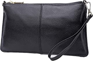 Leather Crossbody Purses Clutch Phone Wallets with Card Slots for Women