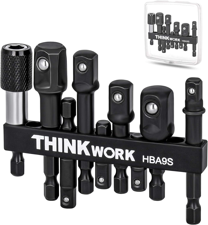 THINKWORK Impact Grade Cheap sale Socket Adapter Adapte Set Drill 9Pcs Popular overseas Bit