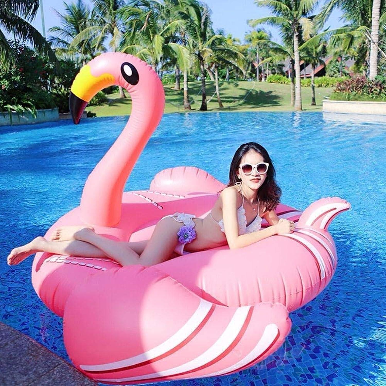 Mejor precio Zzyff Jugara Summer New Adult súper Flamingo Juguetes Juguetes Juguetes Inflables De Cama Flotante, Swan Mount Floating Row Swimming Ring Recliner Water Float Juguetes -190x140x140cm Vacaciones  genuina alta calidad