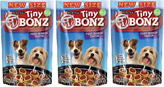 Tiny T Bonz Filet Mignon Flavor Dog Pet Snacks, 4.5-ounce, 3-pack