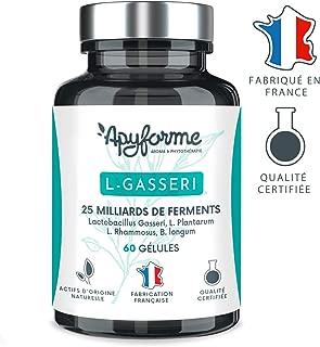 Probiotique Minceur Lactobacillus Gasseri • 25 Milliards d'UFC avec 2g/j • Gélules Gastro-Résistantes • Complément Alimentaire 100% FRANÇAIS • 30 Jours 60 gel • Fabriqué en France par Apyforme