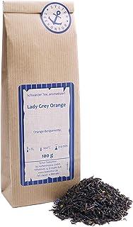 Schwarzer Tee lose Lady Grey Orange Orangenecken, Kornblumen Schwarztee Orange-Bergamotte 100g