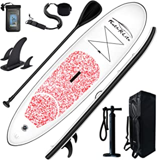 Feath-R-Lite Stand Up Paddle Board 10'x30''x6'' Ultra-Light (16.7lbs) ISUP with Inflatable Paddleboard Accessories,Three F...