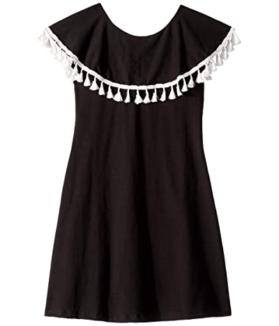 fiveloaves twofish Ruffle Collar Dress (Toddler/Little Kids/Big Kids) (Black) Girl