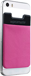 Promate Mobile Card Holder for Credit Metro Card Holder Pouch with 3M Rear Sticker for Apple Samsung HTC - Cardo Pink (PRO...