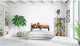 Disponibile in Varie Misure Oedim Testiera Letto PVC Stampa Digitale Pietre Colorate 100x60 cm Elegante Testiera Leggera Resistente ed Economica