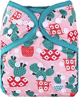 One Size Fit All Baby Reusable Waterproof Diaper Nappy Cover Double Gussets