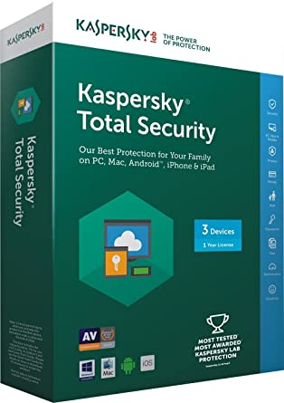 Kaspersky Total Security 2018- 3 Users, 1 Year (Multi Device) (CD) (Chance  to win Rs.1000 Amazon Gift voucher) : Amazon.in: Software