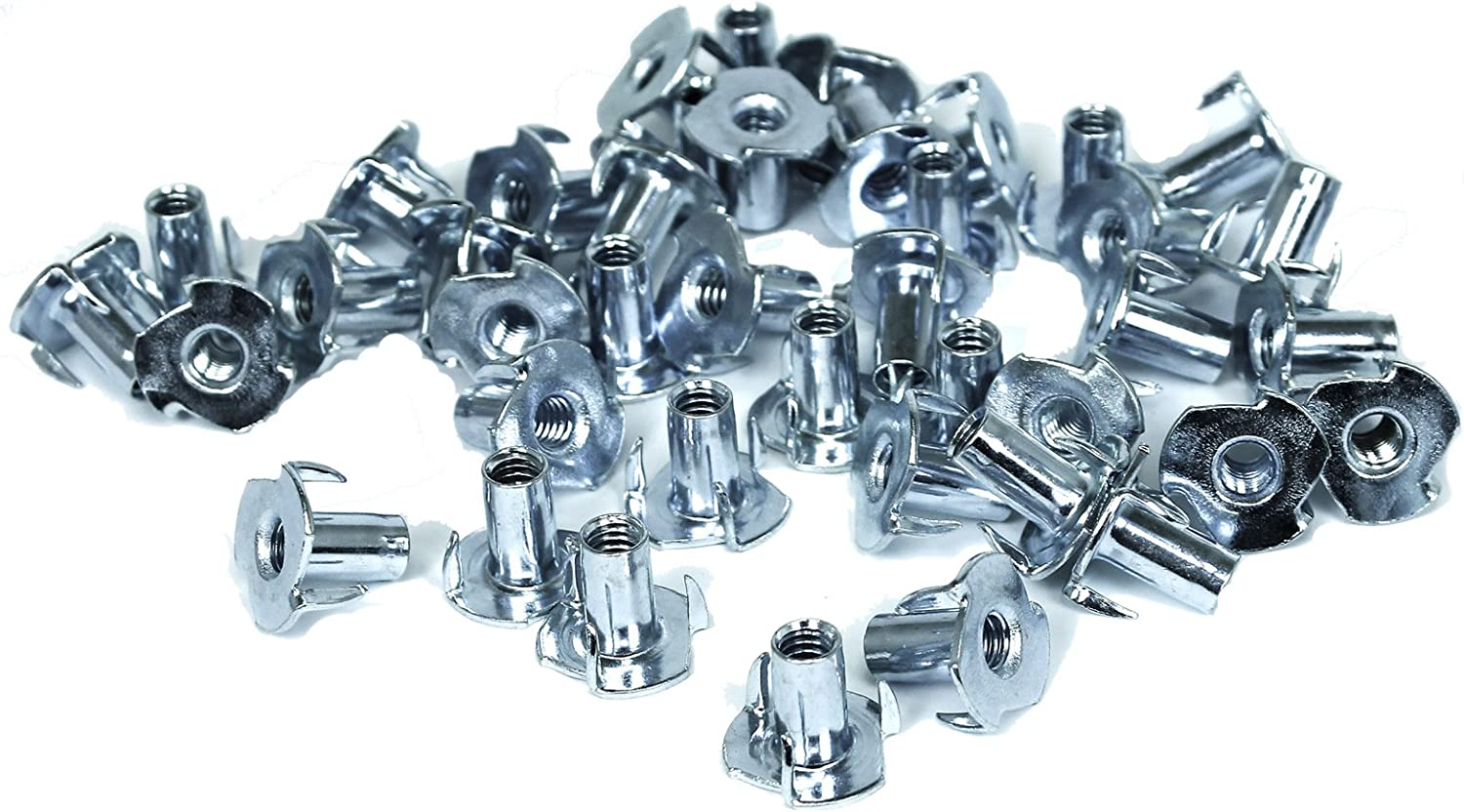 TCH Hardware 100 cheap Pack Steel Popular shop is the lowest price challenge 3 Prong T 1 - Nuts Zin 16