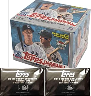 2019 Topps Series 1 MLB Baseball JUMBO box (10 pk, ONE Autograph & TWO Memorabilia cards + 2 bonus pks)