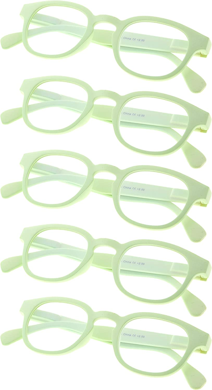5 Pack Anti Glare Film Reading Glasses Computer Readers