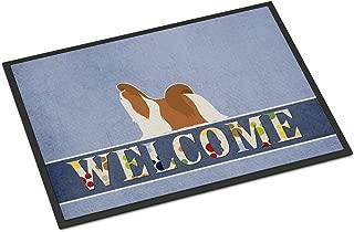 Caroline's Treasures Shih Tzu Welcome Doormat 24 x 36 Multicolor