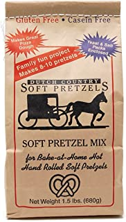 Dutch Country Soft Pretzels Gluten Free Soft Pretzel Mix, 1.5 lb. Bag