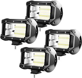 Froadp 4x72W LED Zusatzscheinwerfer Scheinwerfer   Arbeitsscheinwerfer Offroad Flutlicht IP67 SUV LKW UTV (4x72W)