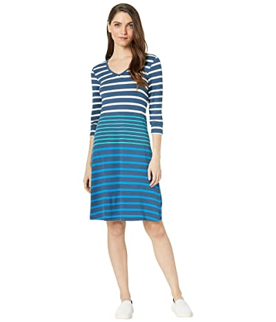 Hatley Elsie Dress (Emerald Lake Stripes Blue) Women