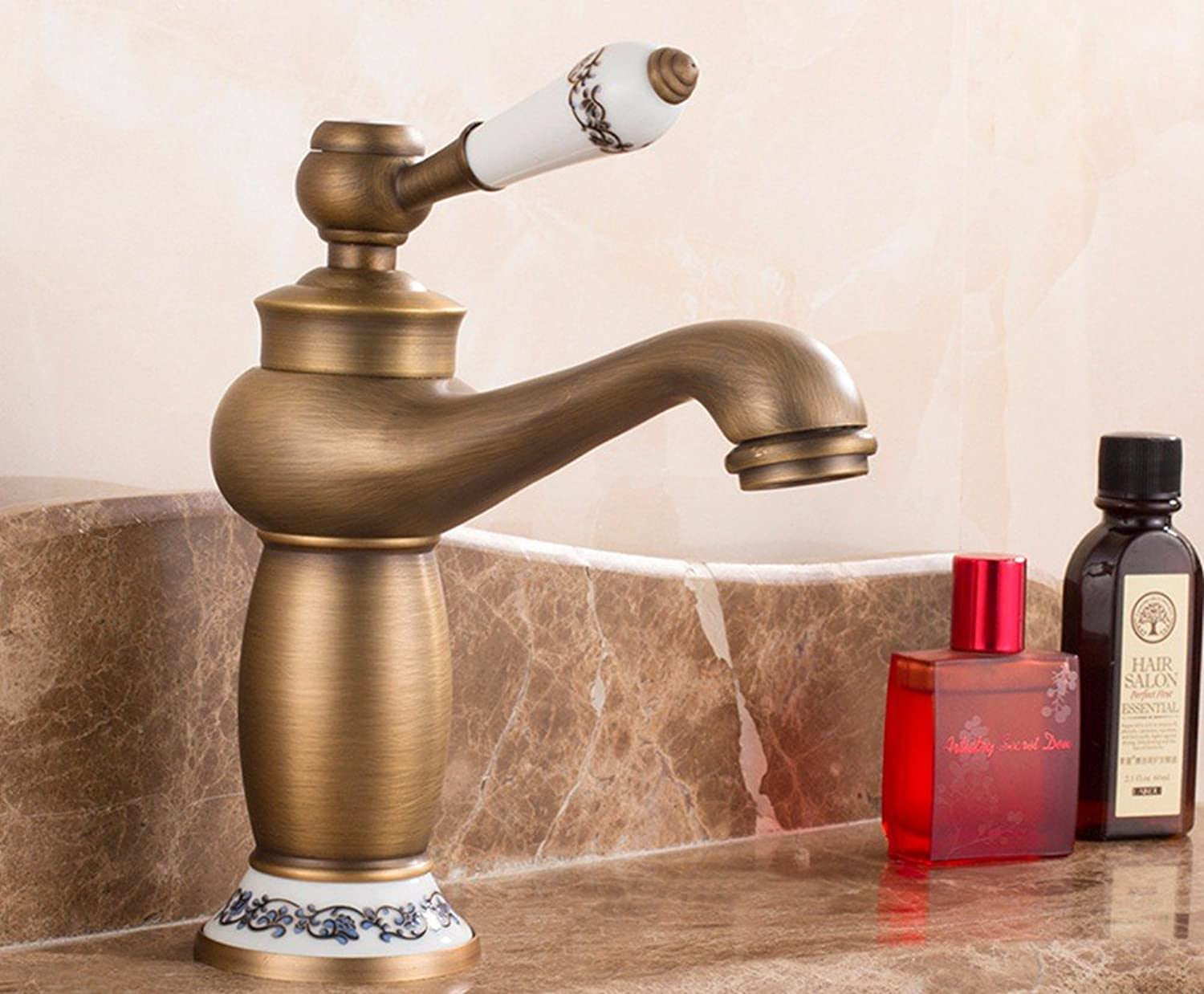 Hlluya Professional Sink Mixer Tap Kitchen Faucet The brass faucets antique basin surface basin of cold water taps,