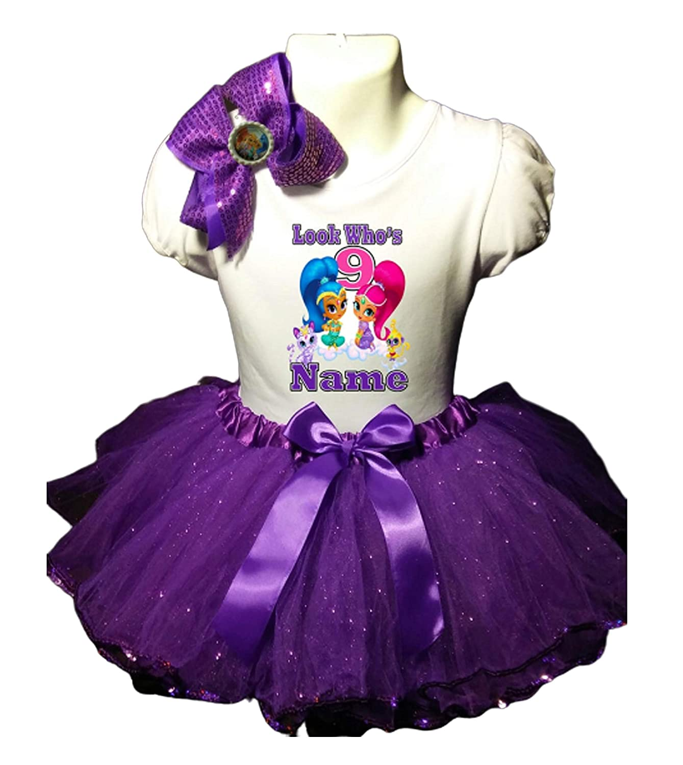 Shimmer and Shine Max 40% OFF Birthday Party Tutu Quality inspection 9th Dress Purple
