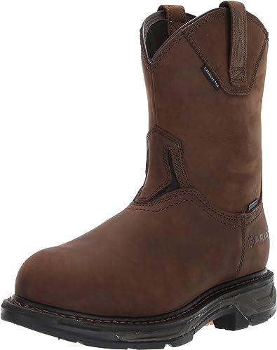 Ariat - Chaussures de Travail Western Workhog XT H2O Carbon Toe Hommes, 42 M EU, Oily Distressed marron