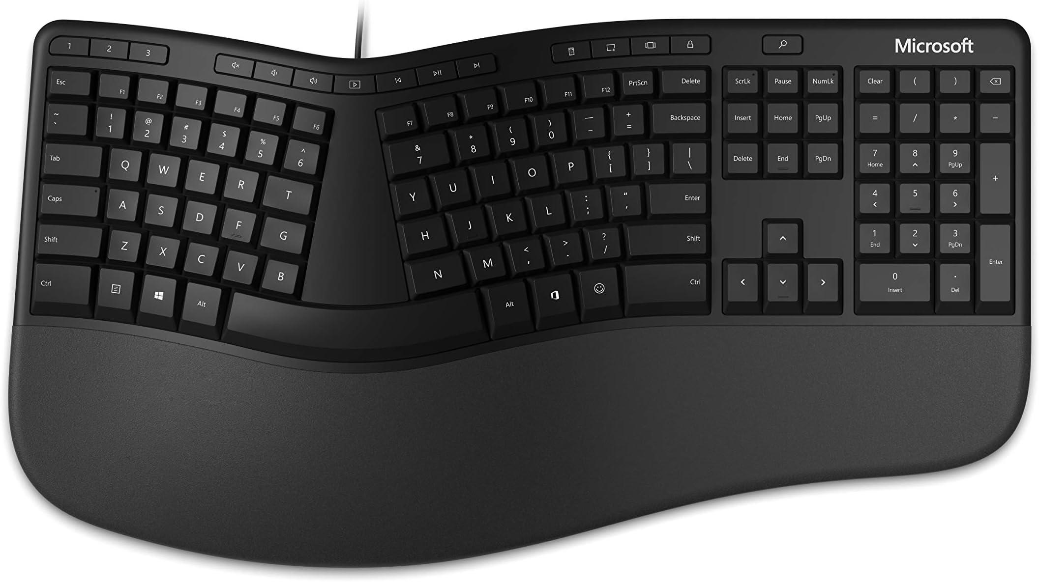 Microsoft Ergonomic Keyboard (LXM-00001), Black