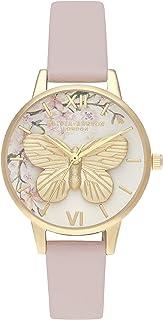 Olivia Burton Women's Pretty Blossom Dial Vegan Material Watch - OB16EG125
