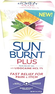 SunBurnt PLUS Pain Relief Gel for After Sun, 5 oz - Non-sticky Pain Relief with Lidocaine, Aloe, Calendula