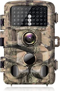 """【2021 Upgraded】 Campark Trail Camera-20MP 1080P Waterproof Game Hunting Cam with 3 Infrared Sensors for Wildlife Monitoring with 120°Detecting Range Motion Activated Night Vision 2.4"""" LCD"""
