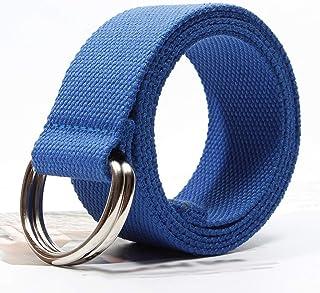 YAOLUU Cinturón de Lona con Doble Hebilla de cinturón de Tela para Hombre L125 × W3.8cm (Color : 2)