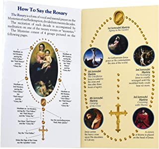 Pack of 10 How to Say The Rosary Prayer Guide Pamphlets