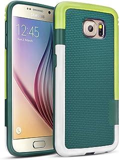 c44c7d4fb0f Galaxy S6 Funda - [Ultra Hybrid] HanLuckyStars Funda Carcasa Case TPU Matte  Shell Exact