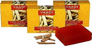 Vaadi Herbals Divine Sandal Soap with Saffron and Turmeric, 75g x 3