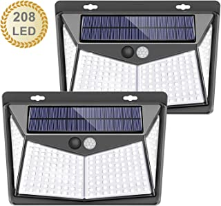 Kilponen Foco Solar Exterior con Sensor de Movimiento Luces Solares Jard/ín Gran /Ángulo 270/ºde Iluminaci/ón L/ámpara Solar Impermeable 2-Paquete Versi/ón Mejorada 2500mAh 180 LED Luz Solar Exterior