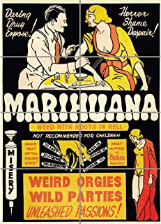 PANEL ART PRINT PROPAGANDA POLITICAL DRUG ABUSE MARIJUANA WEED WEIRD COOL REPRODUCTION POSTER OZ3938 by Large Posters