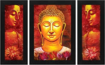 Story at Home Abstract Buddha Wall Painting Frame, Multi-Colour, 35 x 27 x 3 cm, FM1506