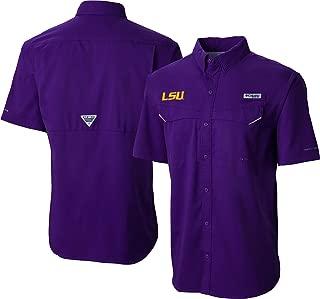 Columbia Men's LSU Tigers Purple Low Drag Offshore Performance Shirt