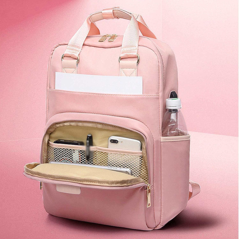 Heart to hear Backpacks Sac à dos pour femme avec charge USB Rose 14 pouces Rose