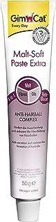 GimCat pasta Malt-Soft Extra , Aperitivo para gatos de fibra de origen vegetal con efecto antibolas de pelo , 1 paquete (1 x 50g)