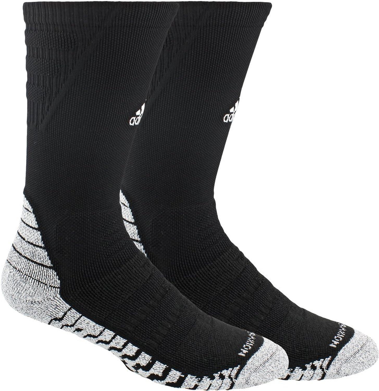 Adidas unisex-adults Standard alphaskin Traxion Maximale Gepolsterte Crew Socke, schwarz wei, 9,5–12