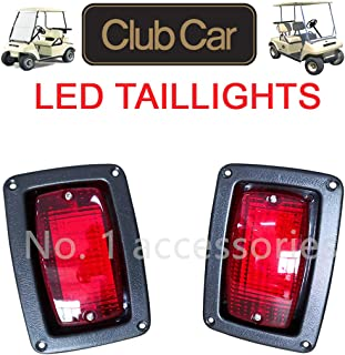 No. 1 accessories Club Car 1982-Newer DS Golf Cart LED Tail Light Kit, (2) LED 3 Wire Taillights,1017035