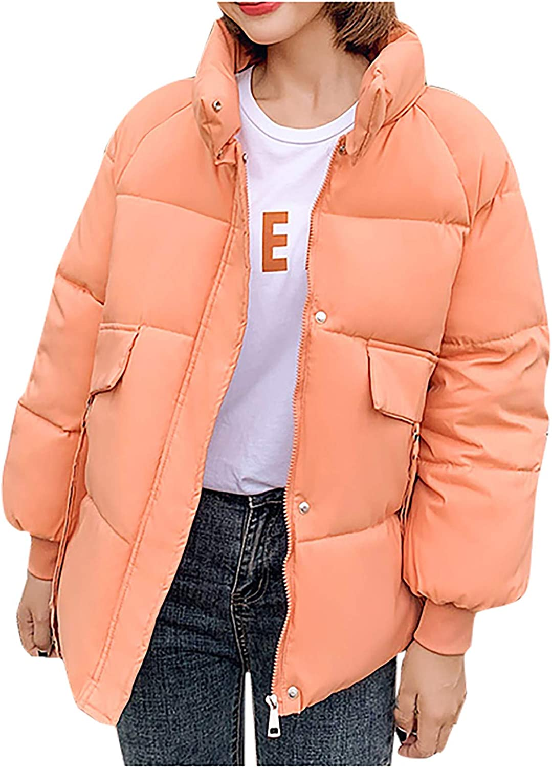 UpdateClassic Womens Winter Coats Color New trend rank item Thicken Solid Pu