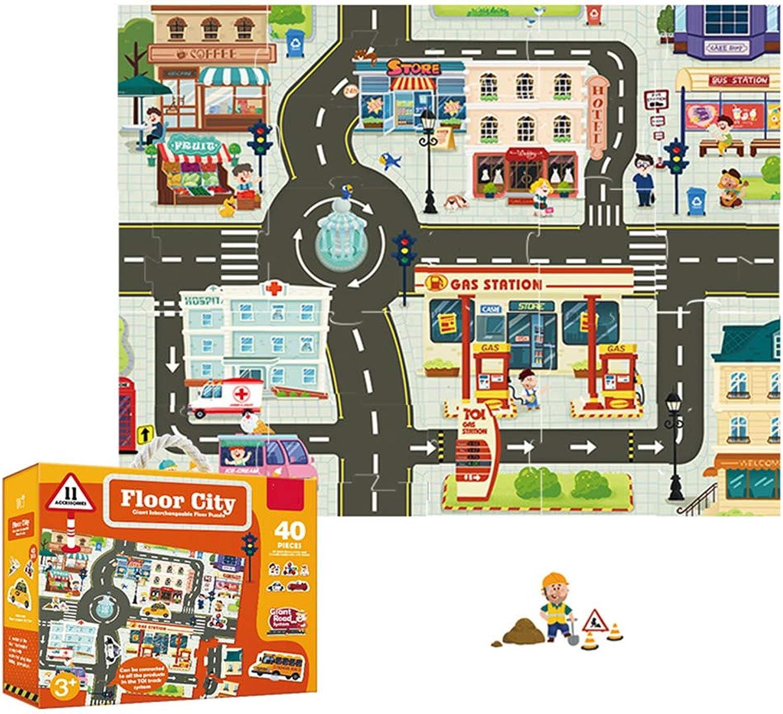 servicio considerado EP-Juguete Rompecabezas de Juguetes para Niños, Rompecabezas de DIY Jigsaw Jigsaw Jigsaw Road Railway City, Juguetes educativos para Niños,City  ventas al por mayor