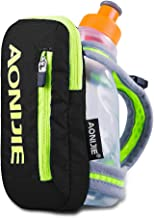 Sywwlov Outdoor Running Belt Handheld Hydration Pack with 8.5oz BPA Free Sport Water Bottle for Travel Hiking
