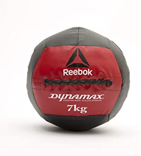 Reebok RSB-10167 Unisex Adult Reebok Dynamax Medicine Ball, Black/Red, 7Kg