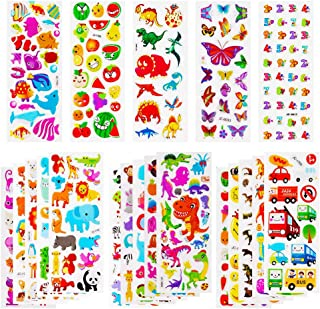 SAPU 3D Stickers for Kids & Toddlers 600+ Puffy Stickers Variety Pack for Scrapbooking Bullet Journal Including Dinosaur, ...