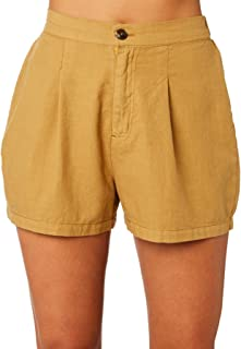 Swell Women's Clarke Short Cotton Fitted Yellow