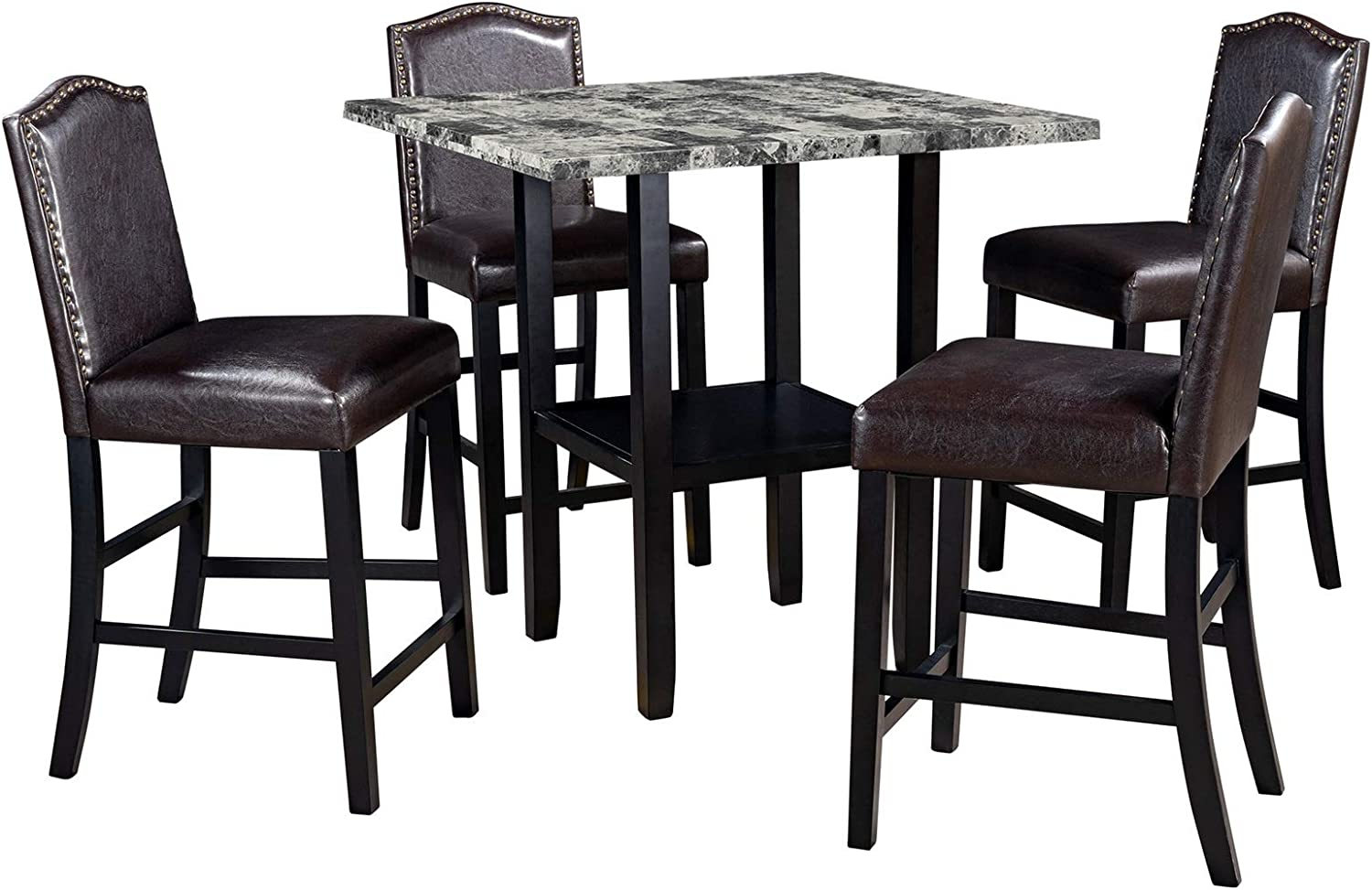 Simple Ranking TOP12 National uniform free shipping and Stylish 5-Piece Dining with Room Supporting Set Chai