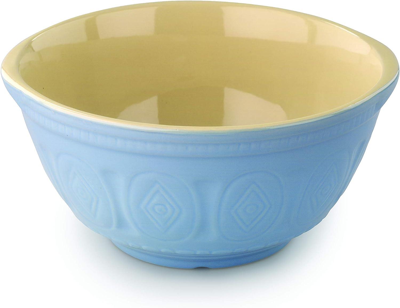 Blue antique mixing bowl Bowl stoneware dough bowl Cornflower