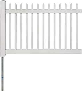 WamBam No-Dig BL19101 Nantucket Picket Vinyl Fence, White