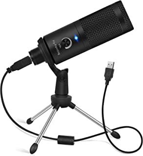 USBMicrophone,PiyPaintingCardioidRecordingMicrophone,192kHz/24bitCondenserMicCompatiblewithPCLaptopMacWindows,Plug&PlayComputerMicrophoneforPodcasting,Gaming,Streaming-D08