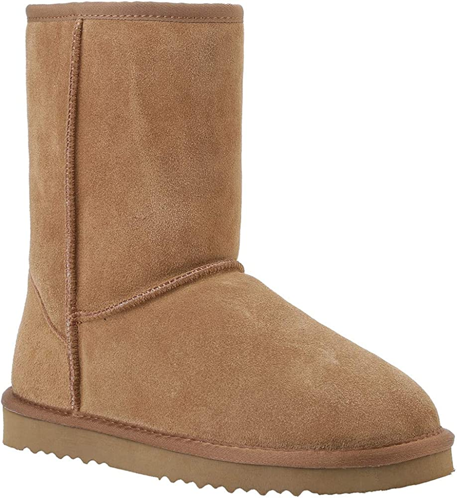 Veilante Chamois Leather Snow Boots-Lady Winter Shoes